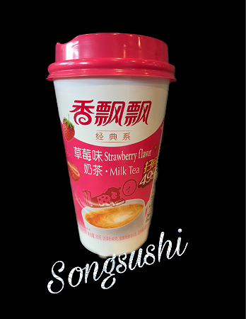 Foto strawberry milktea